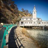 Walkway to yachtclub, Avalon, St.Catalina Islland, CA, USA
