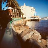 Oleg K. in front of Catalina Casino, Avalon, St.Catalina Islland, CA, USA