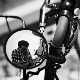 Selfportrait with Rear-View Mirror