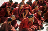 Drepung, debating session of the young monks