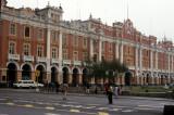 Lima. Colonial architecture in Plaza de Armas