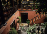 Lima. Interior of a colonial house