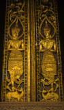 Carved  and gilded, tipical Laotian temple doors.