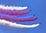 Red Arrows display over Swanage Bay July 29th 2008
