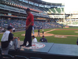 Ryan on the dugout