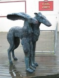 Standing Lady-Hare with Dog 1