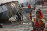 boat repair on the Ganges