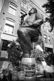 Statue of André Hazes - Dutch singer (famous for a.o. his beer consumption)
