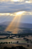 Sunbeams on the valley
