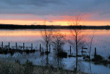 Floodwaters at dusk ~