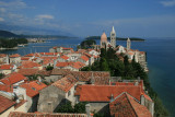 view of Rab town from St. John the Evangelist belfry