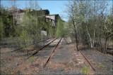 Old RR tracks near an abandoned Coal Breaker. Shenandoah, Pennsylvania