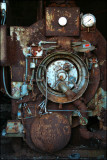 Boiler in an abandoned factory.