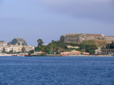 Sailing back to Corfu Town Port