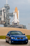 BMW 328i Coupe with Space Shuttle Atlantis