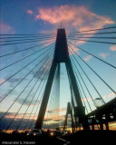 Anzac Bridge sunset