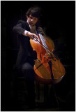 Young cello virtuoso Jan Bogdan playing at the Sacré-Coeur in Brussels