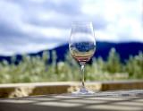 Wine glass reflecting mountains.jpg