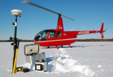 Robinson N988MK, Trimble R-8 GPS and L&R Gravity Meter, Minto Flats, Alaska