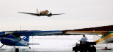 DC-3 N777YA low pass Seymour Lake Spring Fly-in