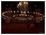 Beautiful lighting inside the Mosque