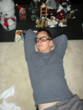 Opening gifts makes me tired