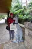 Sue at the entrance to the visitors centre