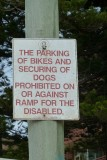 Dogs and Bikes sign