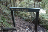 Sign pointing back to Martins Falls