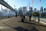 Pyrmont Bridge is now a walkway and cycleway