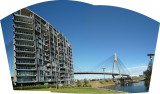 Anzac bridge and Apartments