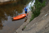 Mike's Kayak at Ingleburn Weir