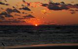 Going below the horizon. - Town Beach, Old Saybrook