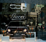 Fiat 500 by Gucci - Saks 5th Ave. display