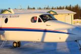 Doug James and Brian Eikel just leaving Cigar Lake for Saskatoon.
