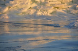 Ice at sunrise