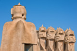 Gaudi Chimneys at La Pedrera