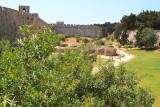 Rhodes city wall