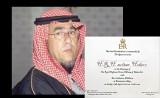 Sultan Hodero on H.R.H Williams,wedding invitation.......