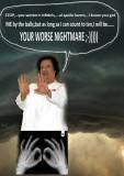 Kadaffi taking on the challenge....