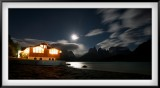 Patagonia: Hosteria (hotel) Pehoe and Cuernos by Moonlight