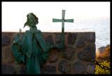 Sculpture in Zapallar Cemetery