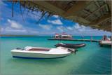 A Tender Docks at Fanning Island