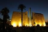 Evening Star over Luxor Temple