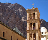 Mount Sinai looming over St. Catherines Monastery