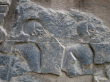 Nubians in deep relief at Luxor Temple