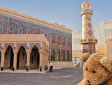 A spectacular mosque, clad in gold-coloured mosaic tiles!