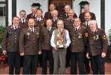 August Scherz mit Kameraden der FF Ofenbach