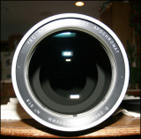 Lens with direct light from straight ahead.