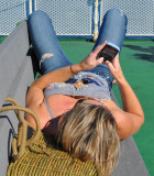 Texting and Sunbathing